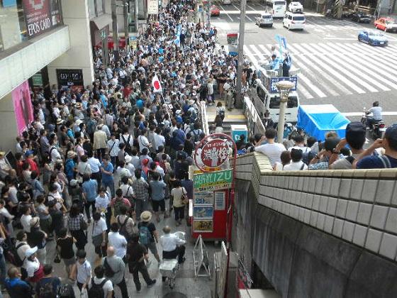 20160724上野駅、丸井前、桜井誠街宣