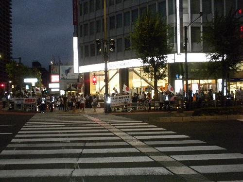 20160813平和の灯を!ヤスクニの闇へキャンドル行動-戦争法の時代と東アジア・韓国人による違法な政治活動・反靖国・反天皇・極左キャンドルデモへのカウンター