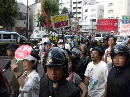 20160815 くたばれ反天連!終戦の日に天皇陛下や靖国神社を冒涜!公序良俗に反するマジキチ極左の反日デモ!