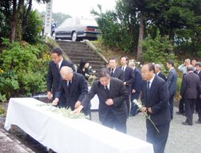 民団新聞2006年9月13日 徴用犠牲韓国人悼む 増田寛也知事も出席
