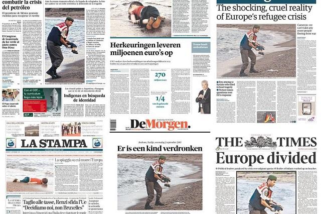 溺死したシリア難民の男児の写真に世界が衝撃(2015年9月3日)