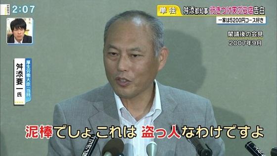 平成19年(2007年)9月の舛添要一の発言「泥棒でしょこれは盗人なわけですよ」