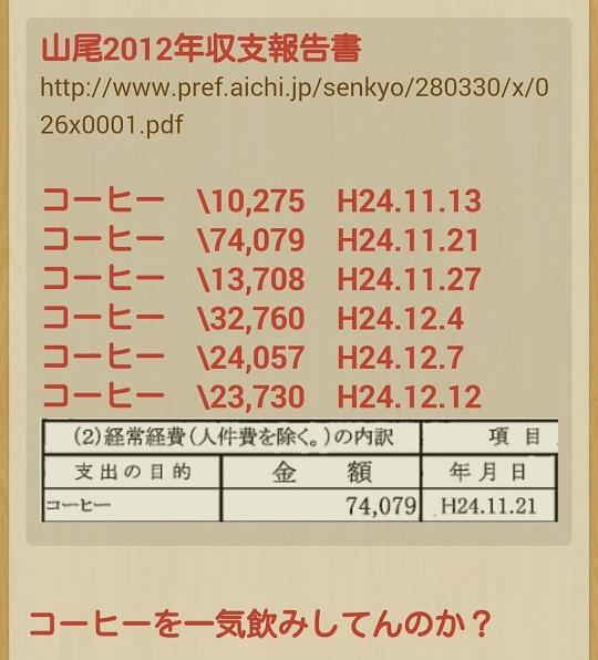 #舛添の次は私だ#ガソリーヌ山尾 山尾志桜里の平成24年の収支報告書