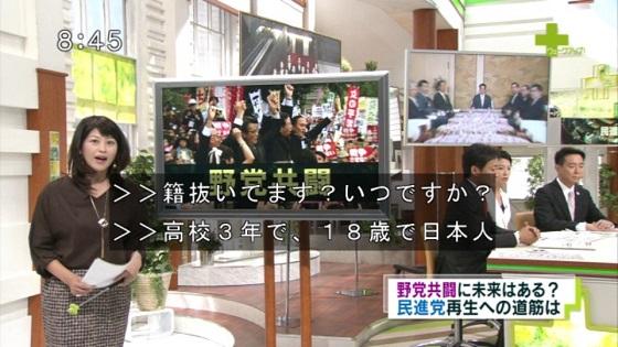 160903 ウェークアップ!ぷらす 二重国籍の噂について 蓮舫「私は生まれたときから日本人です。18歳で台湾籍は抜いてます。」
