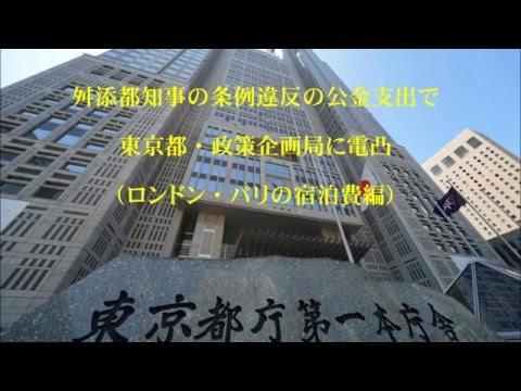 舛添都知事の条例違反の公金支出で、東京都政策企画局に電凸