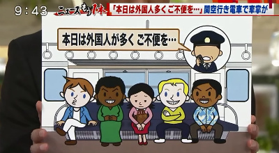 昨日ですけれども、大阪の関西国際空港に向かう電車の中で