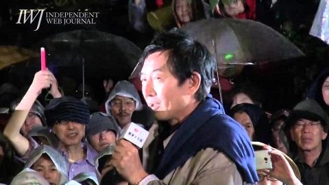 石田純一さんが国会前抗議でスピーチ!「戦争は文化ではありません!」(2015.9.17)