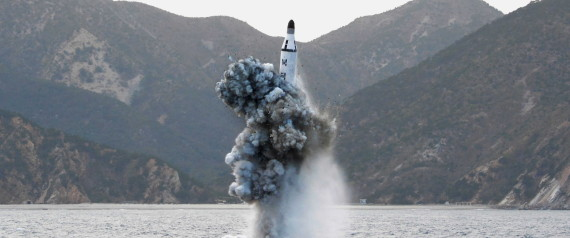北朝鮮、潜水艦から弾道ミサイル発射 500km飛行、日本の防空識別圏に落下