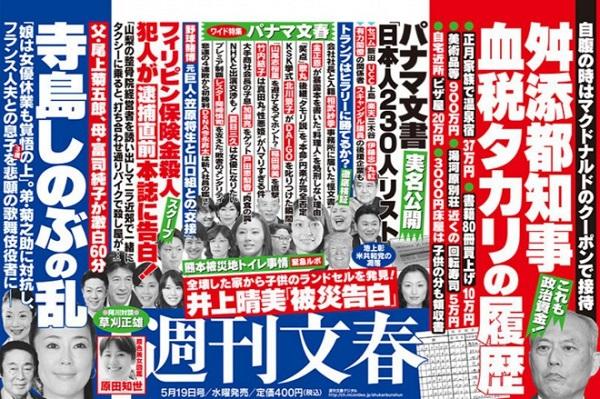 舛添都知事 血税タカリの履歴 週刊文春