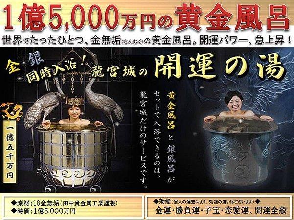 施設紹介 スパ龍宮城 三日月ホテル1億5千万円の黄金風呂