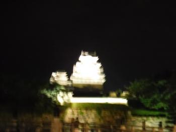 ライトアップの姫路城