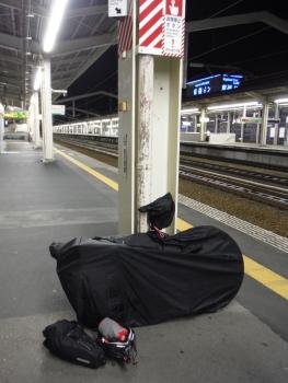 姫路駅から輪行で