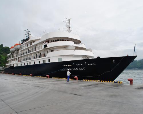 カレドニアンスカイ入港