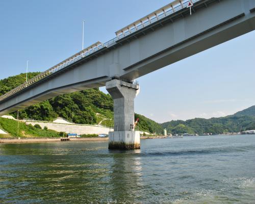 九島大橋通過