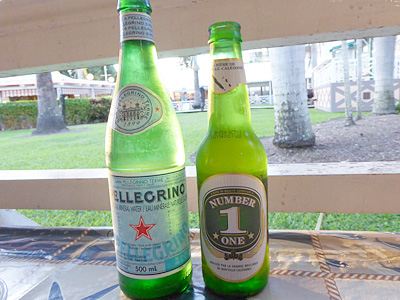 ビールとサンペリグリノ