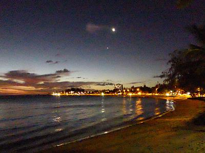 アンスバタビーチの夜景