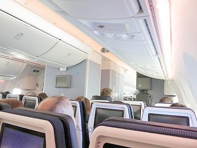 KLM飛行機の内部