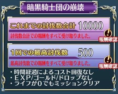 10000体討伐終了
