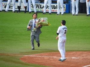 里崎さんも急遽駆け付けた!