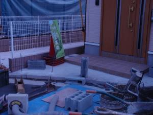 オープン外構→クローズ外構工事(車道への子供飛び出し防止) :エクステリア横浜(神奈川県・東京都の外構工事専門店)