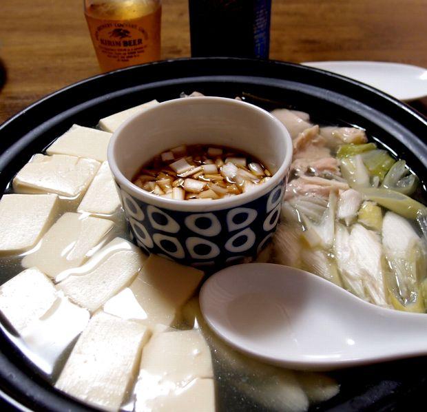 親鳥の湯豆腐