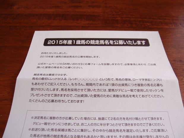 東京TC馬名募集2016