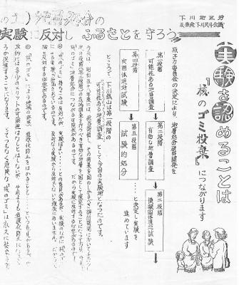 下川地区労の反対チラシ(1981年)