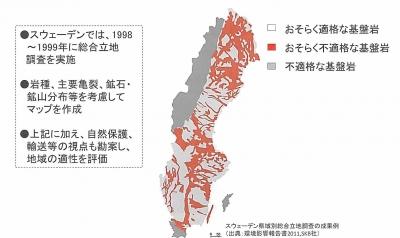 「有望地」を地図に示したスウェーデンの事例