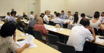 核ゴミ問題で政府との会合(16年9月1日)