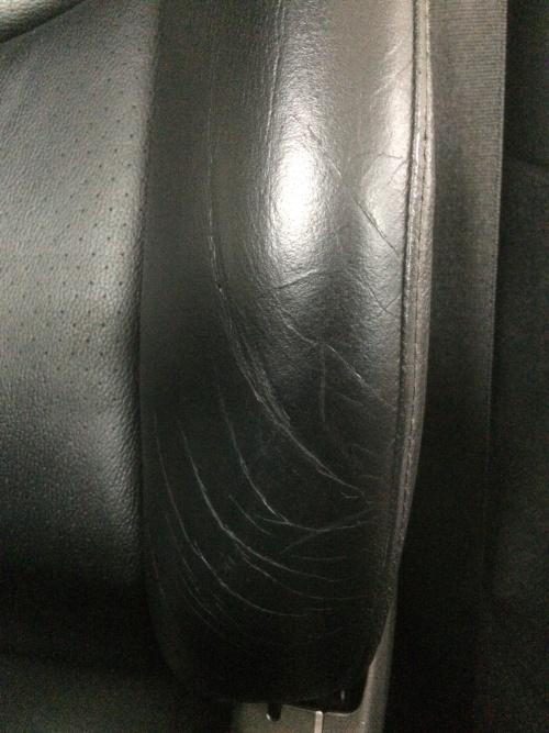 レザーシート、ブレーキレバー補修 ポルシェ997