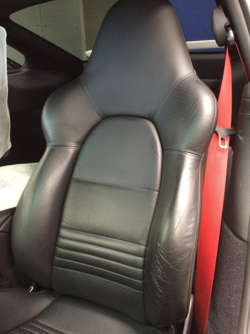 レザーシート 擦れ補修 ポルシェ 996 GT3