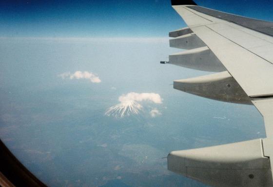 960510富士山から関空へ