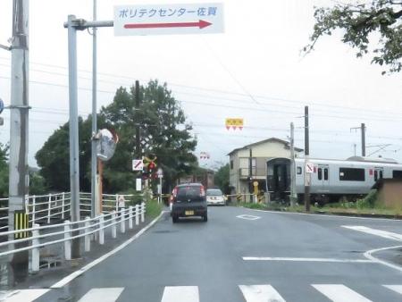 西鉄電車夕陽 024