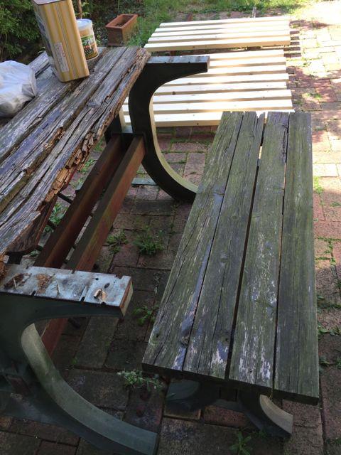 ガーデンテーブルの修理