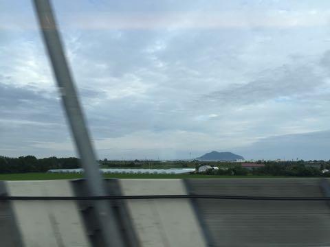 新幹線から函館山