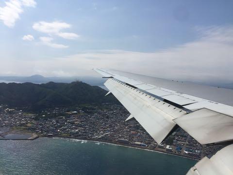 飛行機からの函館山