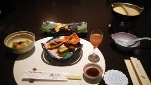 岳温泉夕食