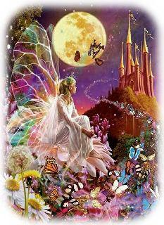 満月と妖精 (2)