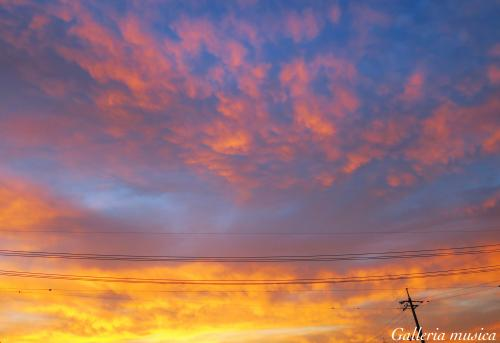 朝焼けの空の色3