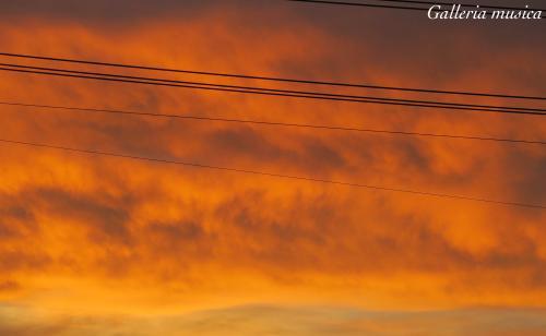 朝焼けの空の色4