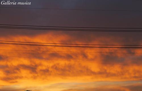 朝焼けの空の色5