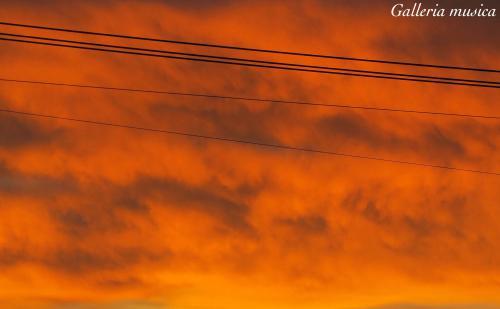 朝焼けの空の色6