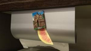 ウチフィット キッチンペーパーハンガーホルダー レビューマグネット取り付け画像