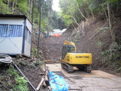 サブ堰堤建設160910