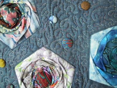 五角形折り紙風バラ拡大1