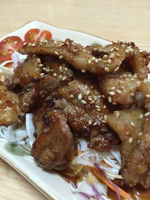 韓国料理 プクチョンマウル 豚カルビ