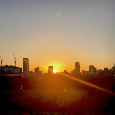大阪城夕陽