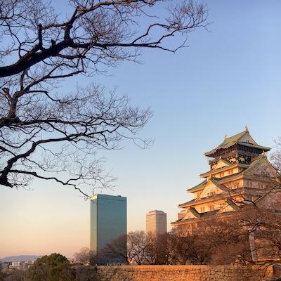 大阪城夕暮れ