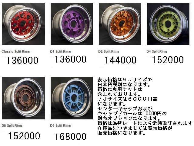 SC wheel catalogue