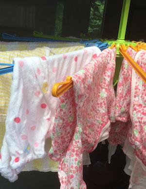 着る前のお洗濯